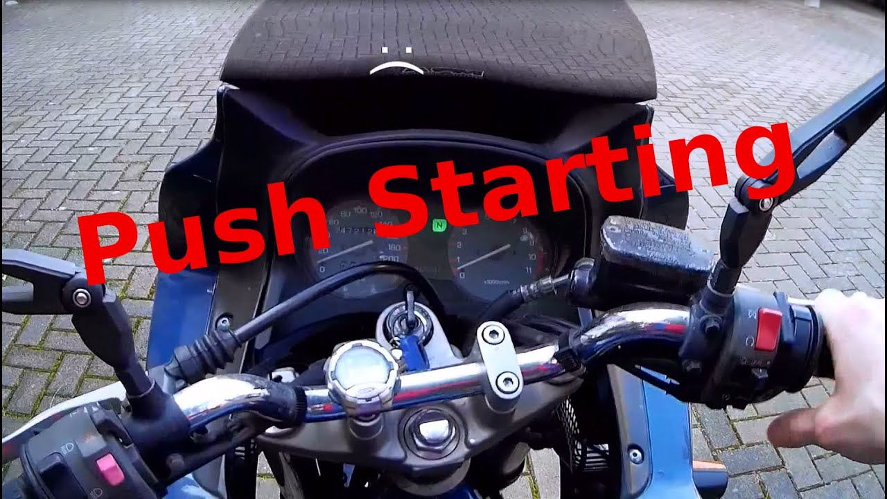how to push start an electric start motorcycle