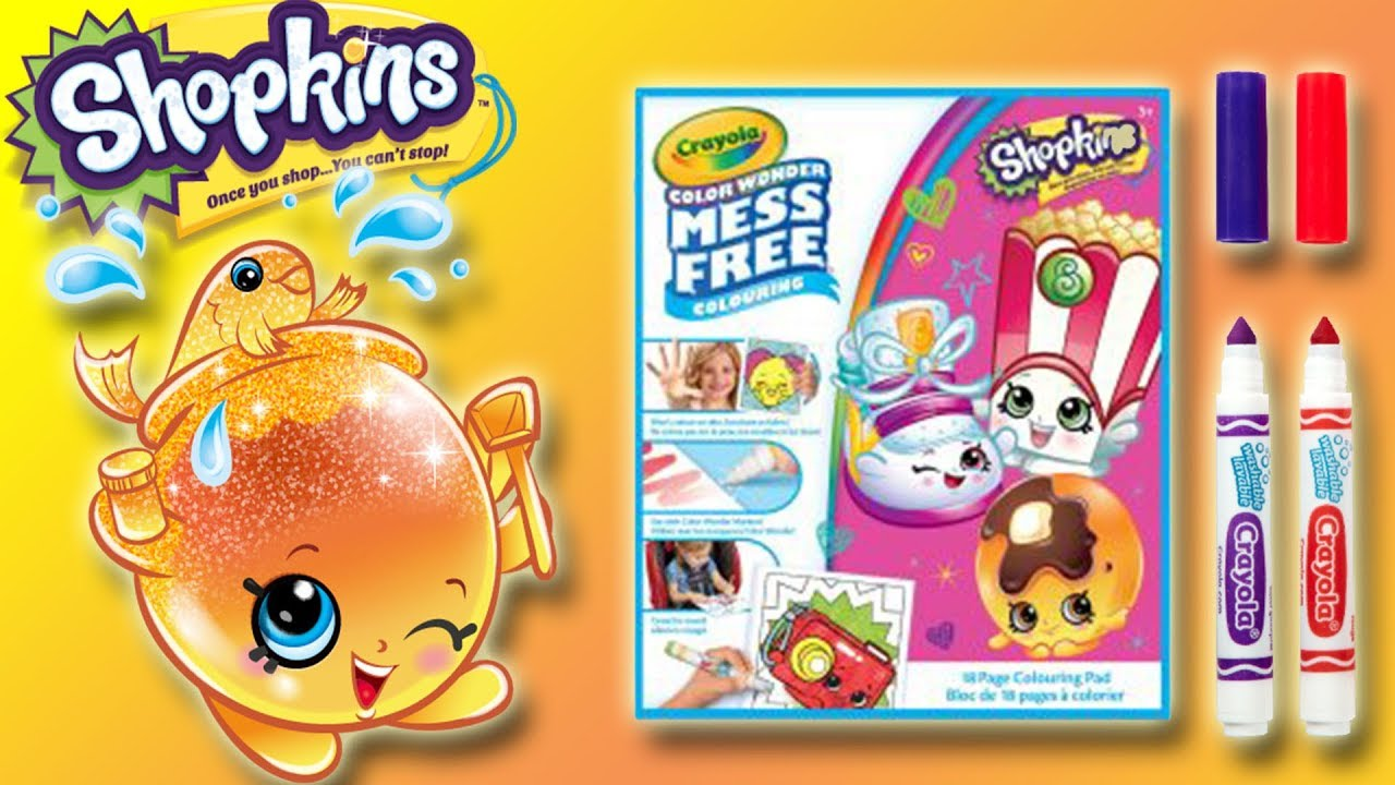 crayola colour wonder shopkins goldie fish bowl little kelly