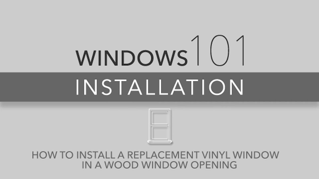 Reliabilt Windows 101 Vinyl Window Installation For Wood