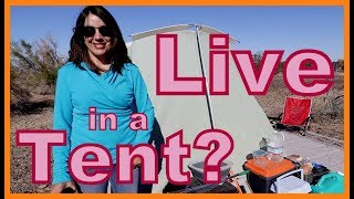 Can You Live in a Tent and Minivan?