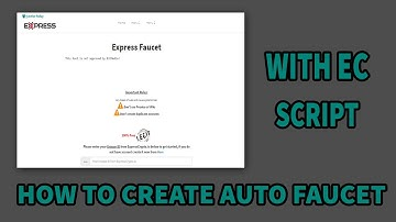 How to create Auto Faucet with Express Crypto script  || How to Create a faucet || BitEarns