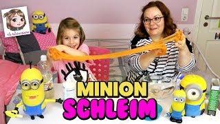 Der versprochene MINION SCHLEIM + Prank an Hannahs Papa 💛 DIY Slime Hacks