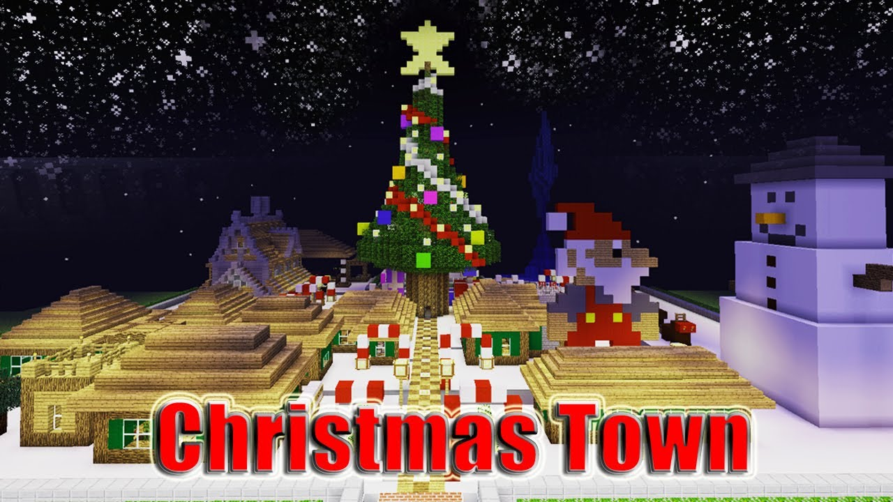 Minecraft Christmas Town - YouTube