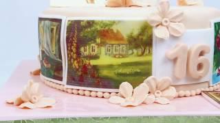 Торт на день рождения для девушки художницы