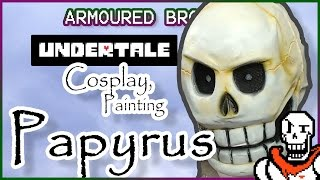 Papyrus Painting Cosplay Tutorial - Undertale Full head mask thumbnail