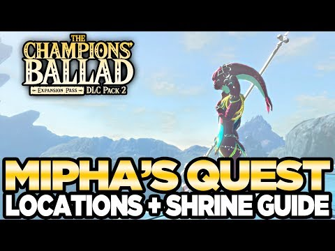 Mipha's Song - Locations & Shrine Guide The Champions Ballad Breath of the Wild   Austin John Plays
