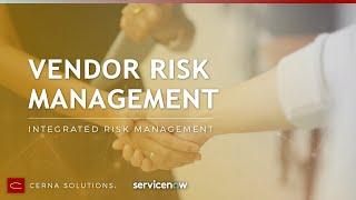 ServiceNow Vendor Risk Management Application Demo (Orlando)