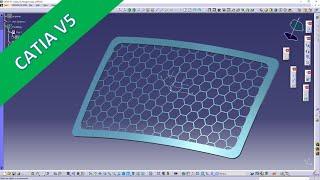 "Hexagon Grill - ""easy"" - Catia v5 Training - GSD"