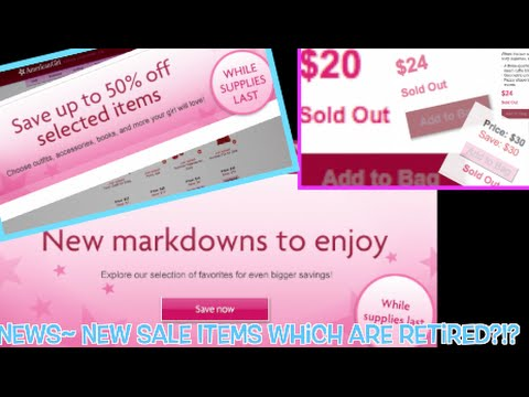 AG News~ New Sale Items Which Are Retired!?!