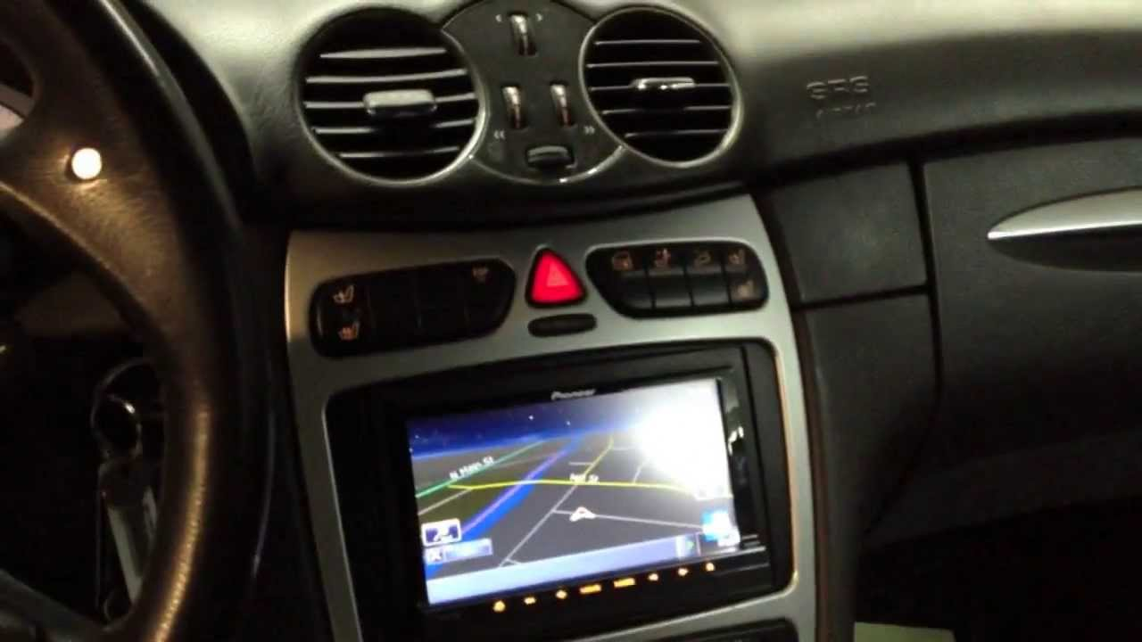 Mercedes Benz Clk 55 2004 With Pioneer Avic Z130bt Youtube
