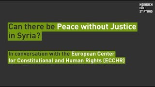 Can there be peace without justice in Syria?