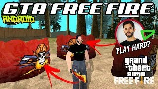 SAIU! INCRÍVEL! GTA FREE FIRE PARA ANDROID | COM SKINS DE YOUTUBERS | Download