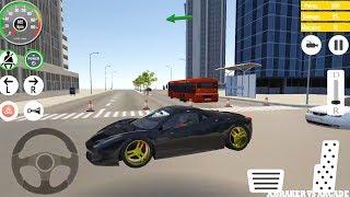 Car Driving Black Ferarri Driving Simulator: Real Parking Car Game - Android GamePlay HD