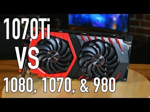 MSI GTX 1070 Ti Benchmarks VS 1080 & 1070
