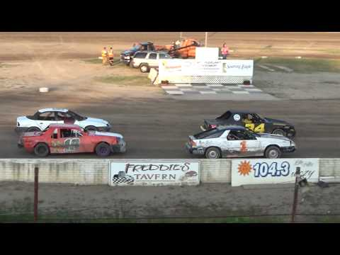 4 Cylinder Heat race #3 at Mt. Pleasant Speedway on 07-27-2018.