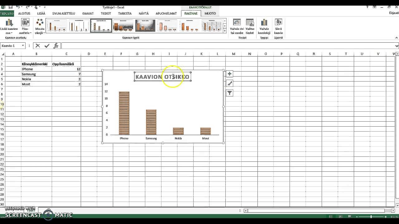 Excelin Käyttö