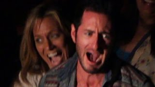 Grown Men Get Scared At A Haunted House