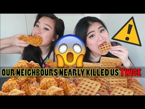 FRIED CHICKEN & WAFFLES | MUKBANG | EATING SHOW