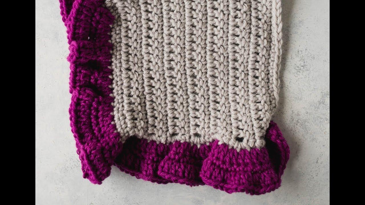 How To Crochet Ruffle Edging Allfreecrochet Com