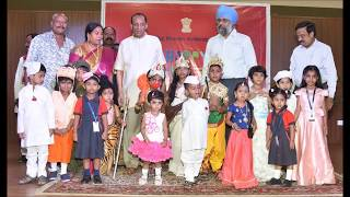 Governor Narasimhan greeted the children from various schools in Hyderabad
