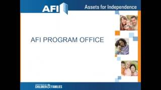 AFI New Grantee Orientation Webinar One: Introduction to AFI (2016)