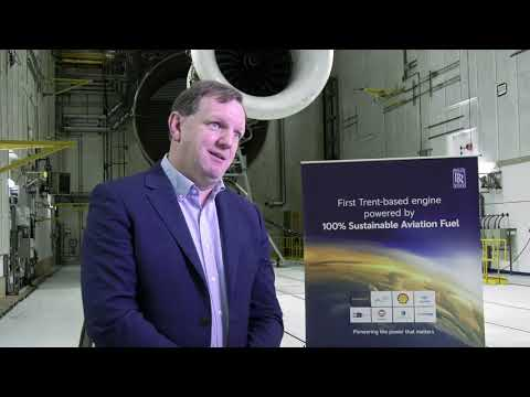 Rolls-Royce | 100% SAF testing on a Trent-based demo engine