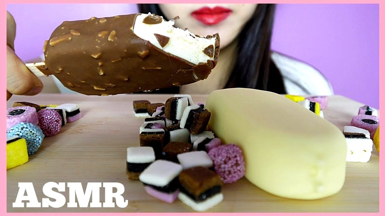 Asmr Magnum Ice Cream Bars Eating Show Eating Sounds No Talking Yoojin Eats