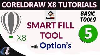 CorelDraw Telugu Tutorials - 05 || Smart Fill Tool with Option's ||computersadda.com