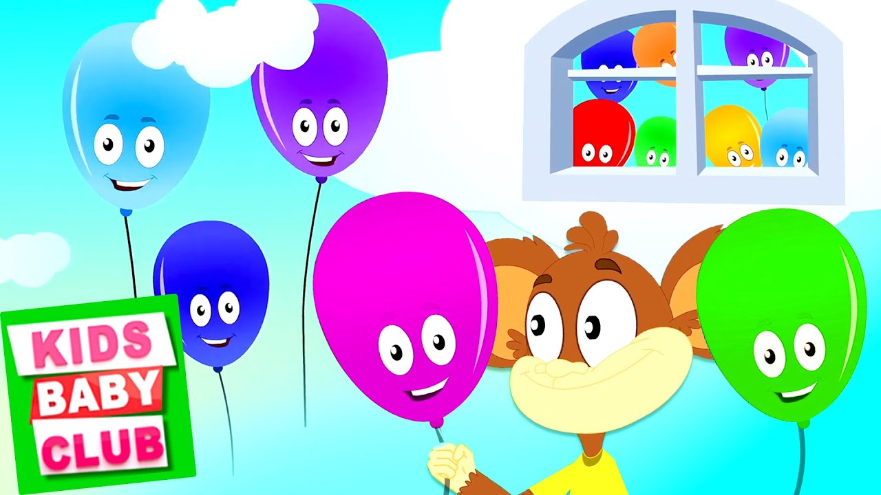 Balloon Song | Monkey Rhymes for Kids | Cartoon Videos for Children - Kids Baby Club