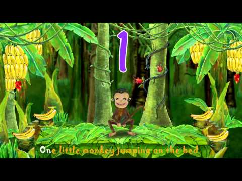 Five Little Monkeys Jumping on the Bed Kid Songs
