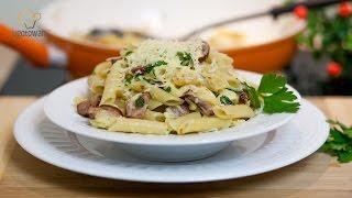 Obiad w 15 minut - Ekspresowy makaron z kiełbasą i serem   Ugotowani.tv HD