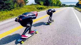 Top Speed Challenge raw run - Downhill Longboard Skate extreme speed