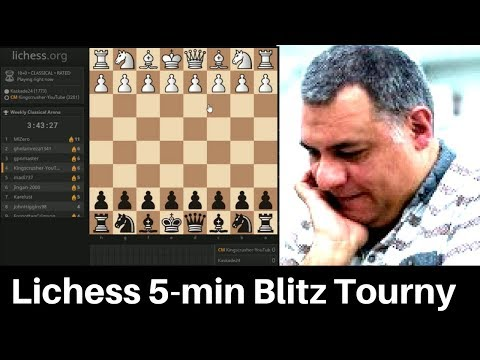 Chess Berserk #050: 5-minute Blitz Chess Tournament - 5th August 2015 : Bullet and Blitz Chess fun!