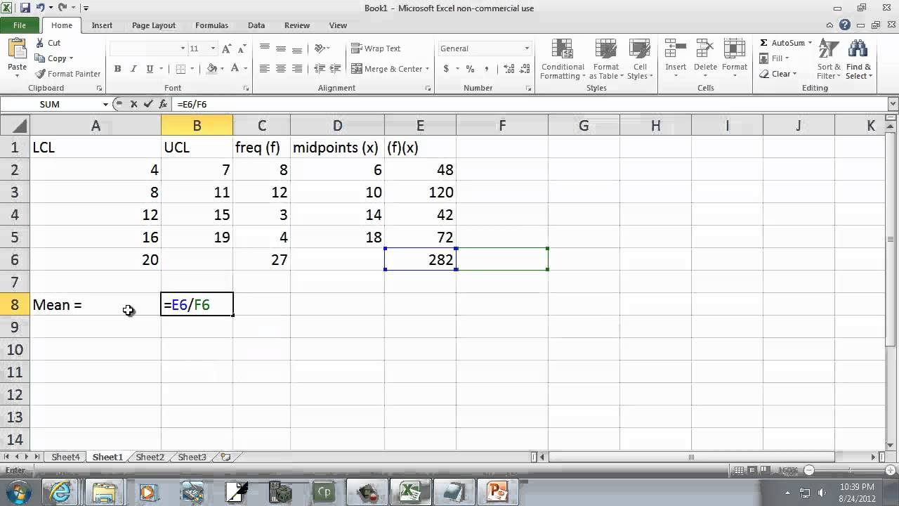 Identify and Calculate the Mean, Median, and Mode