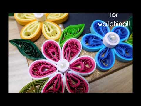 How to make simple Paper Quilling Photo Frame design?