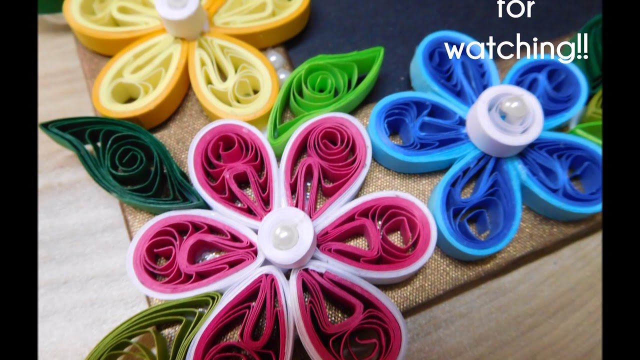 how to make simple paper quilling photo frame design rh youtube com