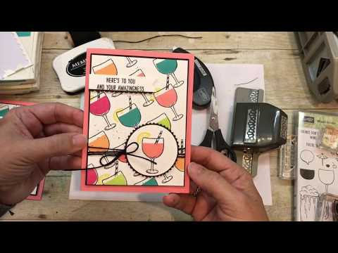 How to make a fun Mixed Drinks Card from Stampin Up