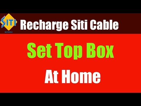 Recharge Siti Cable Online At Home 2019 | Choose Channel And