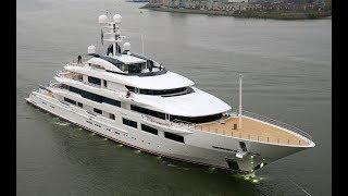 Oceanco's DreAMBoat left Alblasserdam for Rotterdam yesterday