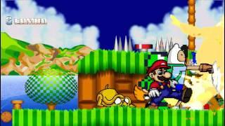 MUGEN Remake #1 - Mario/Kermit/Blossom/Finn & Jake vs. Mickey Mouse/Fat Albert/SonicV2/Link