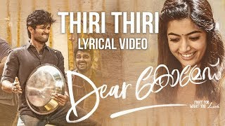 Dear Comrade Malayalam Thiri Thiri Lyrical Song | Vijay Deverakonda | Rashmika | Bharat Kamma