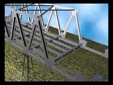 Gambar Jembatan Baja Dwg