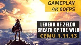 The Legend of Zelda Breath of the Wild CEMU 1.11.3 PC 4K 60FPS Gameplay