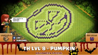 ★ Clash of Clans Troll Base ★ TH8 - Halloween Pumpkin - Farming