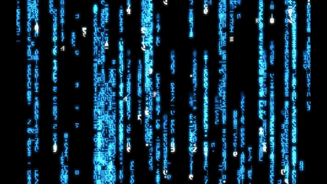 matrix code blue - 1440x900 for dreamscene - youtube
