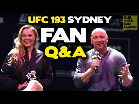 UFC 193: Full Sydney Fan Q&A w/ Rousey, Holm, Jedrzejczyk, Letourneau, Dana White