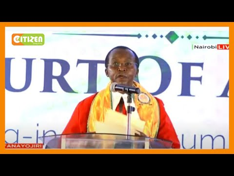President of the Court of Appeal Justice Daniel Musinga's inaugural speech after swearing in