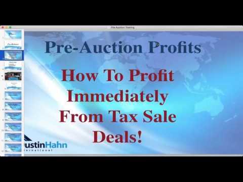 Pre Auction Real Estate Profits