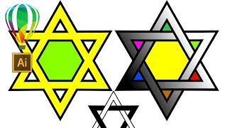 Звезда Давида Coreldraw  Нарисовать Построить Гексаграмма Дизайн Star Of David 🌟 Урок