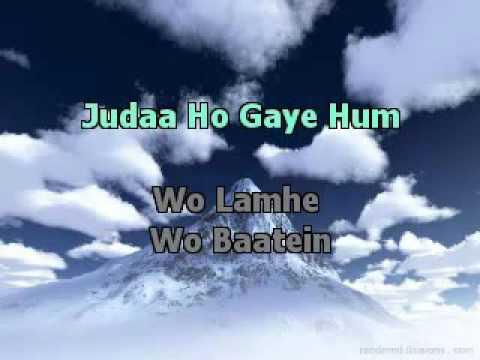 Wo Lamhe ZeherHIndi Karaoke Latest   YouTube